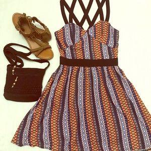 EZRA FITCH Tribal print strappy dress